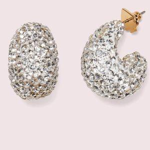 🥳HP🥳🆕Kate Spade clay pavé huggie hoop earrings
